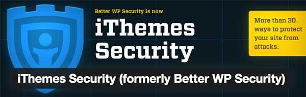 Plugin WordPress iThemes Security