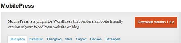Plugin WordPress MobilePress
