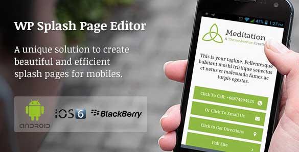 Plugin WordPress Mobile Splash Editor