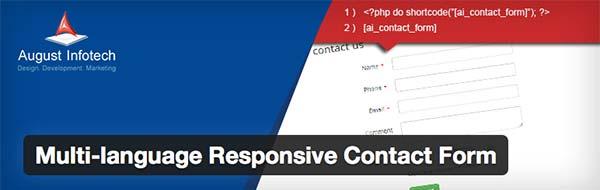 Plugin WordPress Multilanguage Responsive Contact Form