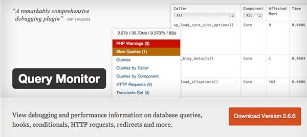 Plugin WordPress Query Monitor