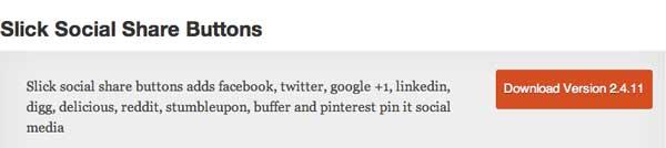 Plugin WordPress Slick Social Share Buttons