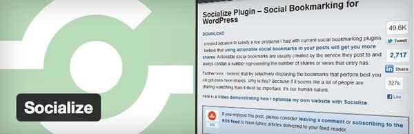 Plugin WordPress Socialize