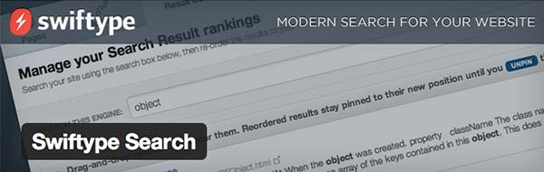 Plugin WordPress SwiftType Search