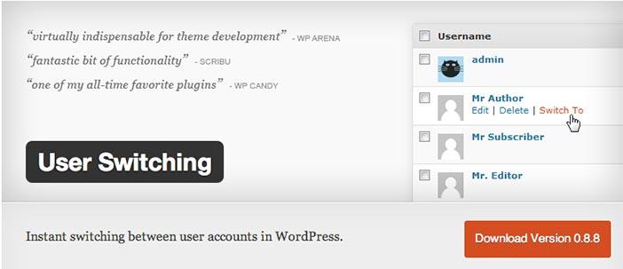 Plugin WordPress User Switching