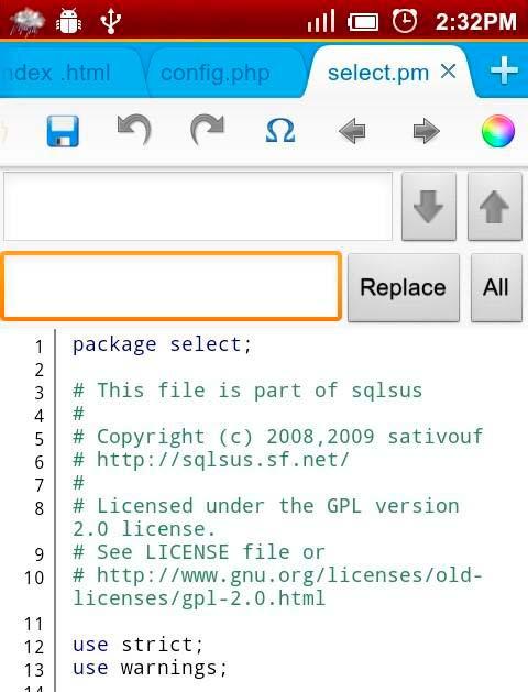 Programas para Android: Editor de código 920 Text Editor