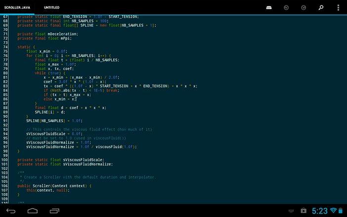 Programas para Android: Editor de código DroidEdit