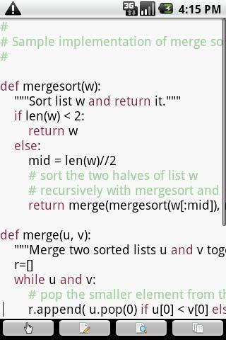 Programas para Android: Editor de código Touchqode Pro