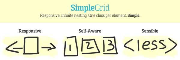 Programas para hacer paginas web adaptables: SimpleGrid