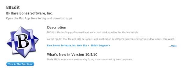 Programas para Mac: BBEdit