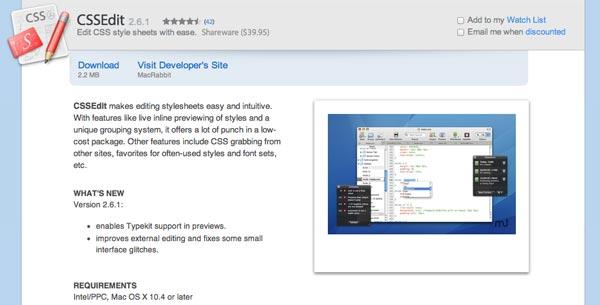 Programas para Mac: CSSEdit