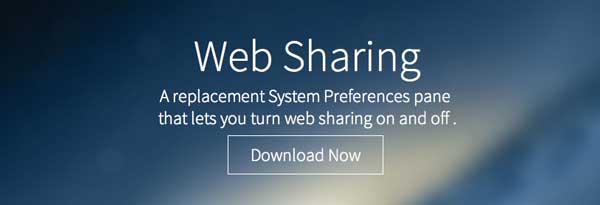 Programas para MAC: Web Sharing