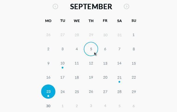 PSD Gratis Round Calendar