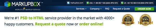 Servicio PSD to HTML5: Markupbox