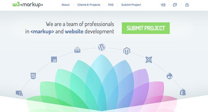 Servicio PSD to HTML5: W3Markup