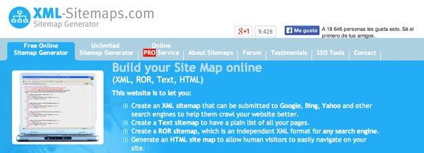 Herramientas de SEO Marketing: XML Sitemaps