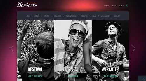 Temas WordPress para sitios web dedicados a la música: Beat Heaven