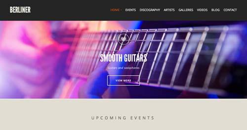 Temas WordPress para sitios web dedicados a la música: Berliner