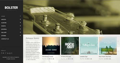 Temas WordPress para sitios web dedicados a la música: Bolster