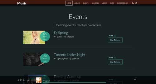 Temas WordPress para sitios web dedicados a la música: Music