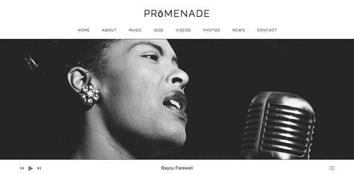 Temas WordPress para sitios web dedicados a la música: Promenade
