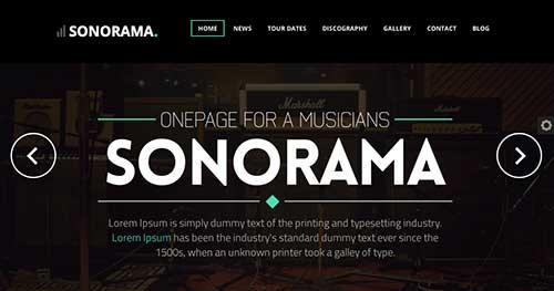 Temas WordPress para sitios web dedicados a la música: Sonorama