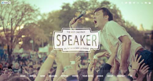 Temas WordPress para sitios web dedicados a la música: Speaker