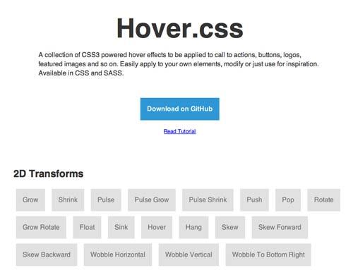 Codigo CSS para incorporar efecto hover: Hover.css