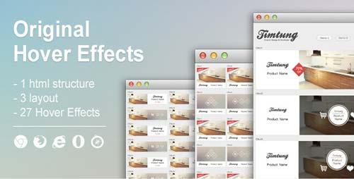 Codigo CSS para incorporar efecto hover: Original Hover Effect