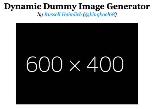 Librería de código PHP para editar imágenes Dynamic Dummy Generator