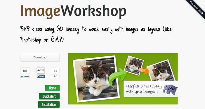 Librería de código PHP para editar imágenes Image Workshop
