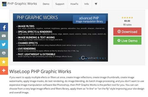 Librería de código PHP para editar imágenes PHP Graphic Works