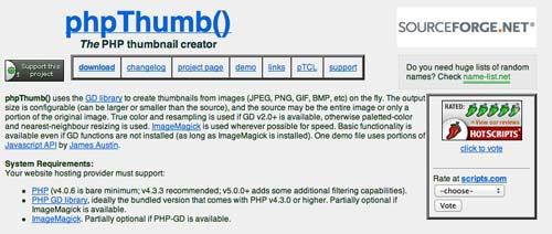 Librería de código PHP para editar imágenes phpThumb