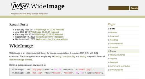 Librería de código PHP para editar imágenes WideImage