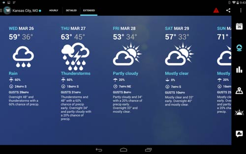 Crear aplicaciones para Android - Ejemplos: Widget Forecast Radar