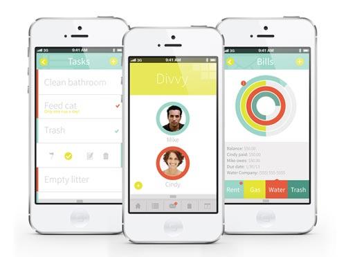 Uso de color en el desarrollo de aplicaciones móviles: Divvy