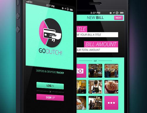 Uso de color en el desarrollo de aplicaciones móviles: Go Dutch