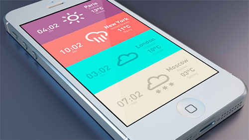 Uso de color en el desarrollo de aplicaciones móviles: Meteo & Clock