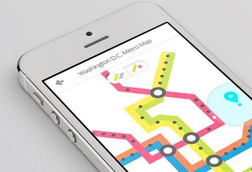 Uso de color en el desarrollo de aplicaciones móviles: Metro Map