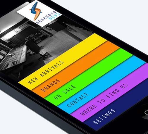 Uso de color en el desarrollo de aplicaciones móviles: Sesaudio