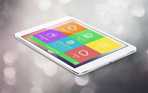 Uso de color en el desarrollo de aplicaciones móviles: Weather Tile