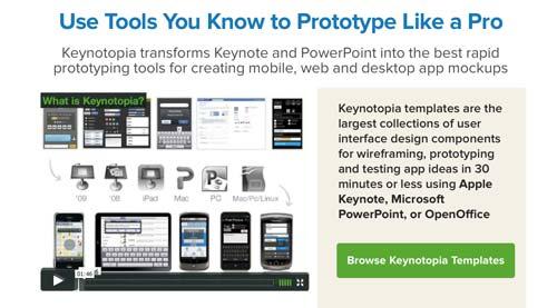 Creación de prototipos para desarrollo de apps:  Keynotopia