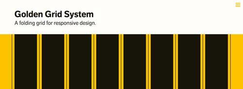 Framework CSS con sistema de cuadrículas Golden System Grid
