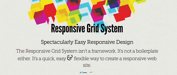 Framework CSS con sistema de cuadrículas Responsive Grid System
