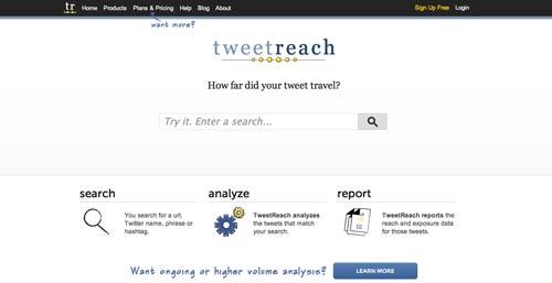 Herramienta para verificar hasthtag populares:  Tweetreach