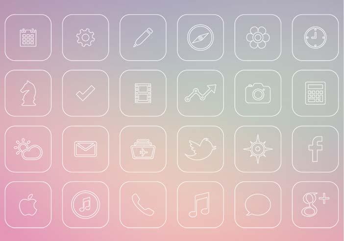 Interfaz de Usuario iOS 7 Icons Redesign