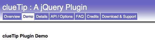 Javascript plugin ClueTip