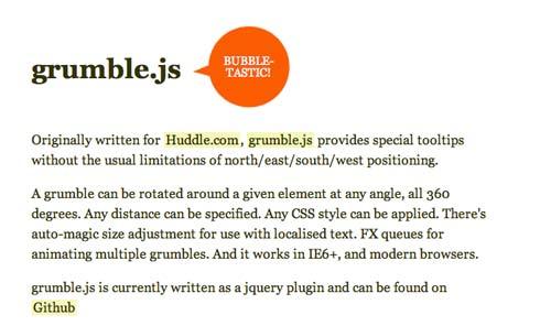 Javascript plugin Grumble.js