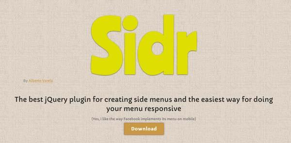Javascript plugin Sidr