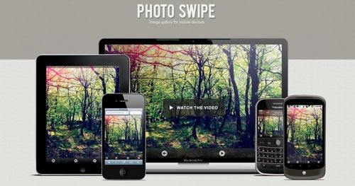Javascript plugin para desarrollo móvil Photo Swipe
